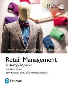 Retail Management 13th Edition by Berman, Evans, Chatterjee (Global Edition)