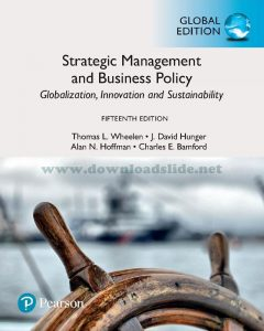 Strategic Management and Business Policy 15th Editon by Wheelen & Hunger (Global Edition)